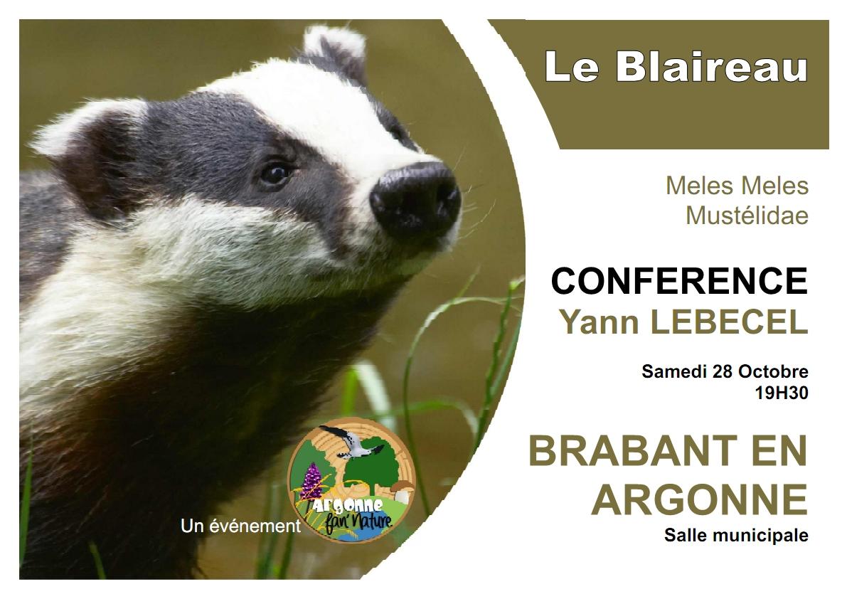 Conférence sur le Blaireau du 28 octobre 2017