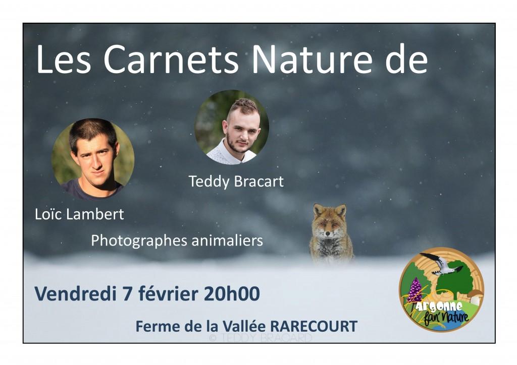 Conférence : Les Carnets Nature